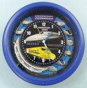 新幹線が時計針の周りに描かれていて、N700のミニチュア模型が回転します。毎時、新幹線アナウ...