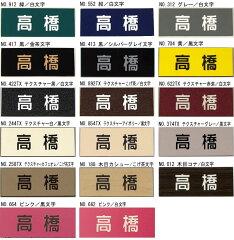 激安オフィス表札・ネームプレート【楕円・中サイズ】豊富なプレート色と書体から選べます