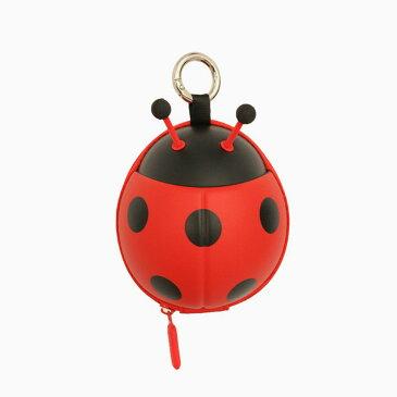 LADYBUG カードポーチ (RED) 小物入れ 子供用 パスモケース 小銭入れ 鍵収納 カードケース ポーチ キュート ギフト