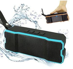 Bluetoothスピーカー 高音質 ワイヤレススピーカー ステレオ コンパクト ブルートゥース スピーカー IPX7 防水 アウトドア お風呂 20時間連続再生 内蔵マイク スマートフォン 大音量 重低音 スピ
