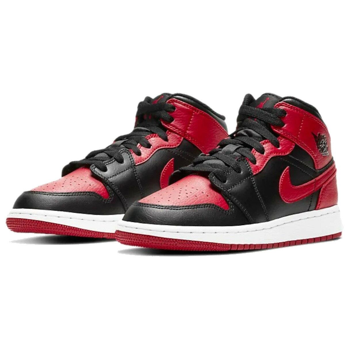メンズ靴, スニーカー NIKE AIR JORDAN 1 MID GS BRED 1 GS 554725-074