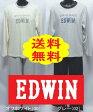 【送料無料】EDWIN(エドウィン)薄手のニット生地(Tシャツ生地)長袖紳士パジャマ(メンズパジャマ)M/Lサイズ