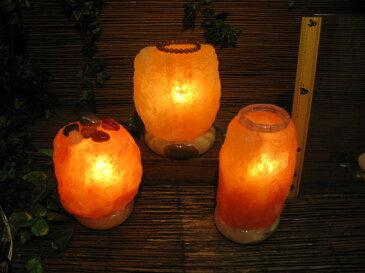 岩塩ランプ 【 ソルトランプ 】おまかせ ピューラーMX 1個売り(ヒマラヤ岩塩ランプ 台座:天然石)