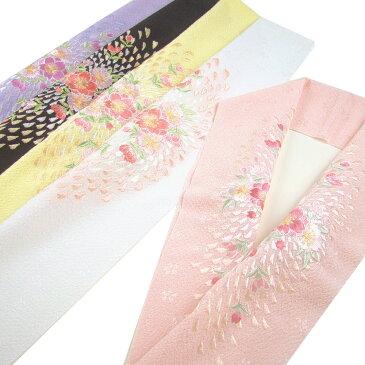 ちりめんジャガード 刺繍半衿(半襟) 桜吹雪 結婚式 成人式 フォーマル 振袖用 袴 はかま