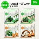 【330円OFFクーポン配布中】【冷凍食品】100%オーガニック 冷凍野菜セット 10袋
