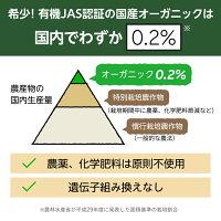 希少!有機JAS認証の国産オーガニックは国内でわずか0.2パーセント