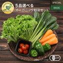 【330円OFFクーポン配布中】5品選べるオーガニック野菜セット (25種から選択)