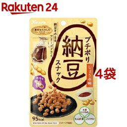 カンロ プチポリ納豆スナック 醤油味(20g*4袋セット)