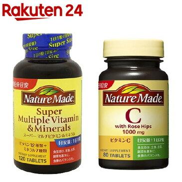 ネイチャーメイド スーパーマルチビタミン&ミネラル ビタミンCローズヒップセット(1セット)【ネイチャーメイド(Nature Made)】