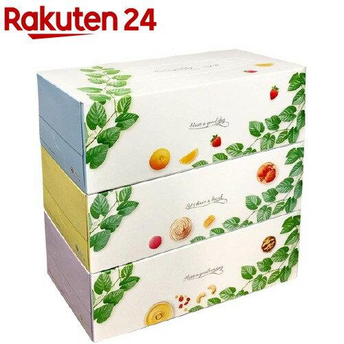大王製紙 ティッシュペーパー 160組 3箱 ×パック コットンフィールティシュ