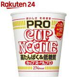 日清 カップヌードルPRO 高たんぱく&低糖質 ケース(74g*12食入)【カップヌードル】