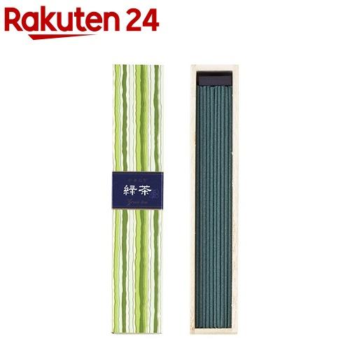 日本香堂 かゆらぎ 緑茶 スティック40本入 香立付 ×6個
