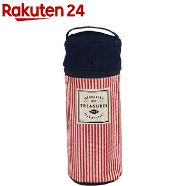 保冷&保温 ペットボトルケース ヒッコリーデニム*レッド M-12954(1コ入)