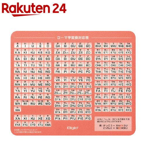 ナカバヤシ ローマ字マウスパッド ピンク MUP-932P 1個