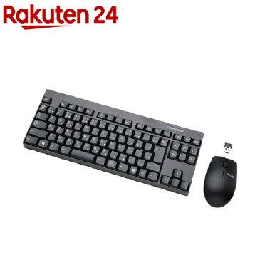 エレコム 2.4GHzワイヤレスコンパクトキーボード&マウス ブラック TK-FDM086MBK(1セット)【エレコム(ELECOM)】【送料無料】