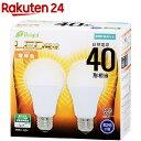 イーブライト LED電球 一般電球形 E26 40形相当 電球色 2個 4.8W 560lm 広配光 112mm E-Bright 密閉器具対応 LDA5L-G AS25 2P 06-3171