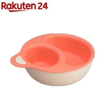 日本製 レンジ対応離乳食プレート ピンク (主食用プレート、主菜・副菜用プレート)(1セット)