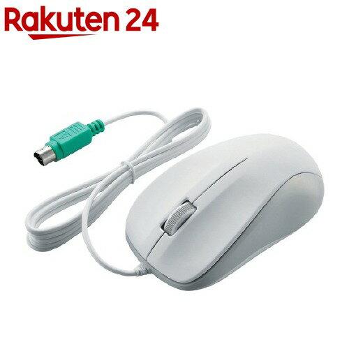 エレコム 有線マウス PS/2 ホワイト 光学式/3ボタン ROHS指令準拠 M-K6P2RWH RS ELECOM