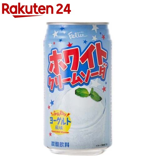 富永貿易 ホワイトクリームソーダ 350X4