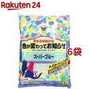 猫砂 紙 スーパーブルー(6.5L*6コセット)【スーパーキャット】