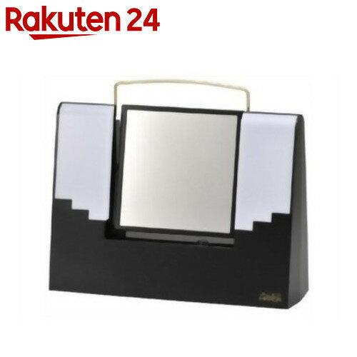 TANICA 照明付きメイクミラー アリスミラー ブラック AM-12BK[タニカ 化粧鏡]
