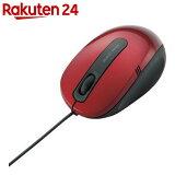 エレコム 3ボタンBlueLEDマウス M-BL17UBRD レッド
