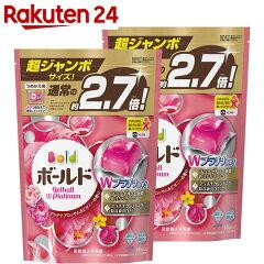 ボールドジェルボールWプラチナプラチナブロッサム&ピオニーの香りつめかえ用超特大48個×2個入