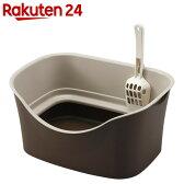 ラクラク猫トイレ ダブルブロック ブラウン【楽天24】[トイレ用品・その他(猫用)]