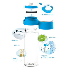 ブリタ浄水機能付き携帯ボトルフィル&ゴー(0.6L)ブルーBJ-GBL4枚目