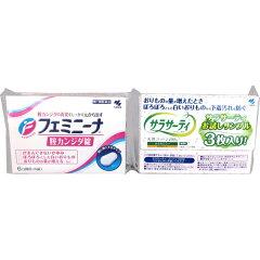 フェミニーナ膣カンジダ錠6錠+サラサーティコットン100試供品3個付2枚目
