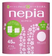 45m長巻ネピアトイレットペーパー8ロール【桜】の香り ダブル45m【販売:京都のちょっとセレブ...