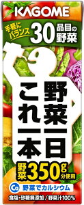 【目玉商品!数量限定!】カゴメ 野菜一日これ一本 野菜汁100% 紙パック 200ml 24本入り【...