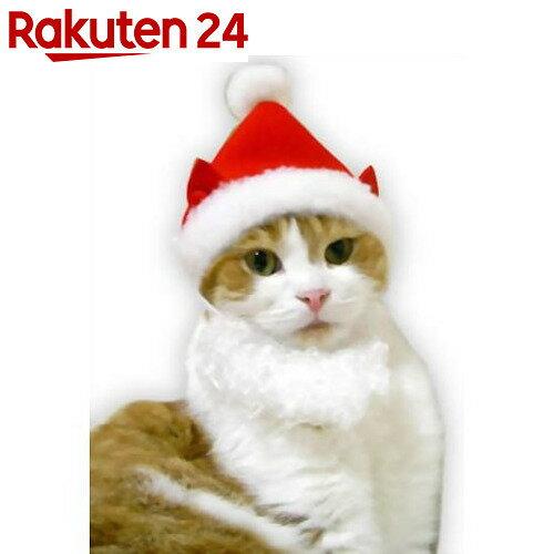 ふわふわヒゲにゃんのサンタ帽【24】[キャットプリン 猫服・コスプレ]