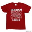 GUNDAM×EAGLES イラストTシャツ(KIDS)《クリムゾン》