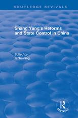 Revival: Shang yang's reforms and state control in China. (1977)【電子書籍】