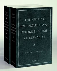 The History of English Law before the Time of Edward IIn Two Volumes【電子書籍】[ Frederic William Maitland ]