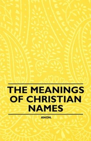 洋書, REFERENCE & LANGUAGE The Meanings of Christian Names Anon