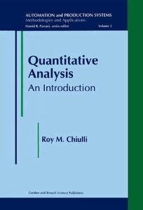 Quantitative AnalysisAn Introduction【電子書籍】[ RoyM Chiulli ]