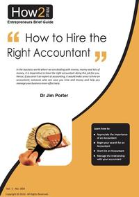 How to Hire the Right Accountant【電子書籍】[ Dr Jim Porter ]