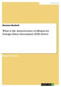 What is the attractiveness of Albania for Foreign Direct Investment (FDI) flows?【電子書籍】[ Besiana Buxheli ]