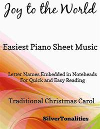洋書, ART & ENTERTAINMENT Joy to the World Easiest Piano Sheet Music Silvertonalities