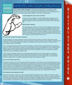 American Sign Language (Speedy Study Guide)【電子書籍】[ Speedy Publishing ]