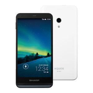 【セット販売端末】AQUOS SH-M01(ホワイト)+通話SIMカード【楽天モバイル】 【SIMフリー】【格安スマホ】【アクオス】【防水】【ワンセグ】【送料無料】