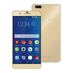 【セット販売端末】honor6 Plus(ゴールド)+通話SIMカード【楽天モバイル】 【SIMフリー】【...