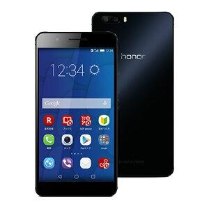 【セット販売端末】honor6 Plus(ブラック)+通話SIMカード【楽天モバイル】 【SIMフリー】【格安スマホ】【ダブルレンズカメラ】【ファーウェイ】【送料無料】