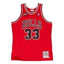 ミッチェル & ネス NBA シカゴ ブルズ スコッティ・ピッペン 1997-98 レッド オーセンティック ユニフォーム メンズ / Mitchell & Ness Chicago Bulls Scottie Pippen Authentic Jersey