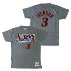 ミッチェル&ネス NBA フィラデルフィア・セブンティシクサーズ アレン・アイバーソン ネーム&ナンバー レトロ Tシャツ (グレー) / Mitchell & Ness Philadelphia 76ers Allen Iverson Name & Number T shirt