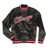 ミッチェル & ネス NBA シカゴ・ブルズ ライトウェイト サテンジャケット ブラック / Mitchell & Ness Chicago Bulls Lightweight Satin Jacket Black