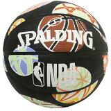 Spalding NBA公式 バスケットボール 6号球 マリ柄 /ラバーボール 屋外用に最適 mashu kyoto (マシュ・キョウト)コラボレーションデザイン スポルディング