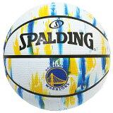 Spalding NBA公式 バスケットボール 7号球 ゴールデンステート・ウォリアーズ マーブル ホワイト ラバーボール / Golden State Warriors 屋外用に最適 スポルディング